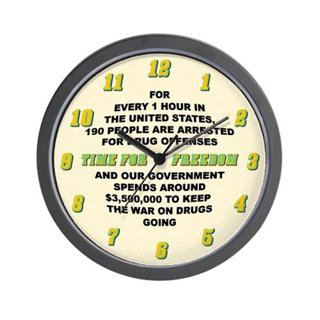 War on Drugs Wall Clock