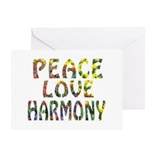 peace love harmony Greeting Card