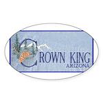Crown King Oval Sticker (10 pk)