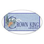 Crown King Oval Sticker