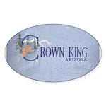 Crown King Oval Sticker (50 pk)
