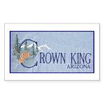 Crown King Rectangle Sticker