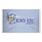 Crown King Rectangle Sticker 50 pk)