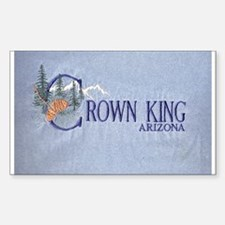 Crown King Rectangle Decal
