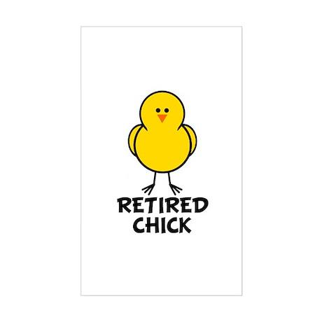 Retired Chick Rectangle Sticker