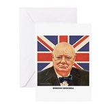 Winston churchill Greeting Cards (20 Pack)