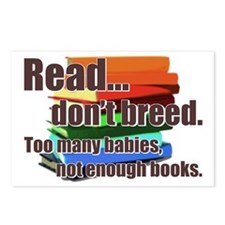 Read Don't Breed Postcards (Package of 8)