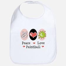 Peace Love Paintball Bib