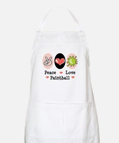 Peace Love Paintball BBQ Apron