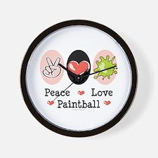 Peace Love Paintball Wall Clock