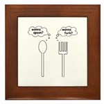 Wanna Spoon? Framed Tile