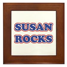 Susan Rocks Framed Tile