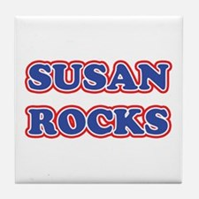 Susan Rocks Tile Coaster