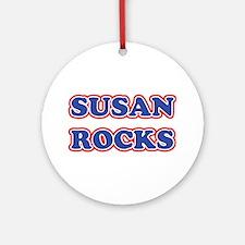 Susan Rocks Ornament (Round)
