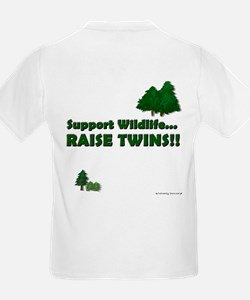 Support Wildlife - Twins Kids T-Shirt