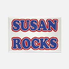 Susan Rocks Rectangle Magnet