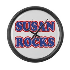 Susan Rocks Large Wall Clock