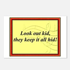 """""""Look Out Kid"""" Postcards (Package of 8)"""