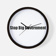 Stop Big Government Wall Clock