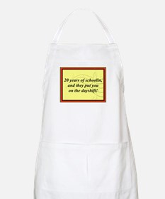 """20 Years of Schoolin'"" BBQ Apron"