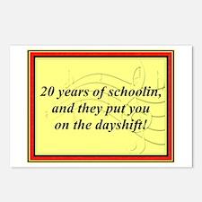 """20 Years of Schoolin'"" Postcards (Package of 8)"