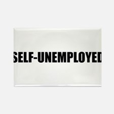 SELF-UNEMPLOYED Rectangle Magnet
