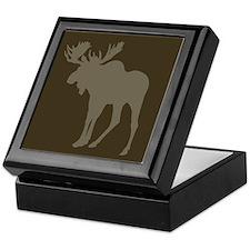 Chocolate Moose Rustic Keepsake Box