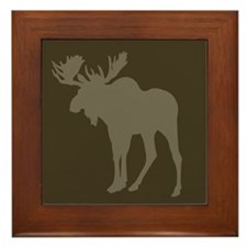 Chocolate Moose Rustic Framed Tile