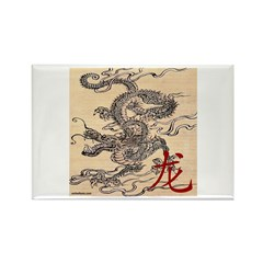 CHINESE DRAGON Rectangle Magnet (10 pack)