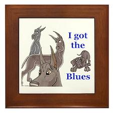 I Got The Blues Framed Tile