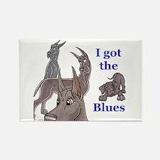 I Got The Blues Rectangle Magnet