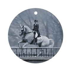 Dressage Horse Winter Pirouette Christmas Ornament
