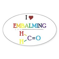 Embalming Oval Decal