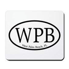 WPB West Palm Beach Oval Mousepad
