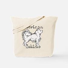 American Eskimo Waggin Tote Bag