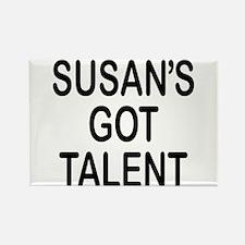 Susan's got talent Rectangle Magnet