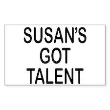 Susan's got talent Rectangle Decal