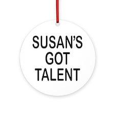 Susan's got talent Ornament (Round)