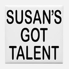 Susan's got talent Tile Coaster