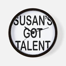 Susan's got talent Wall Clock