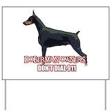 Doberman 911 Yard Signs