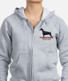 Doberman Owners Don't Dial 91 Zip Hoodie
