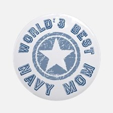 World's Best Navy Mom Ornament (Round)