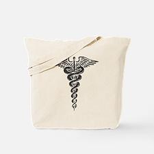 Vintage Caduceus Tote Bag