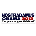 Nostradamus / Obama 2012 Bumper Sticker (10 pk)