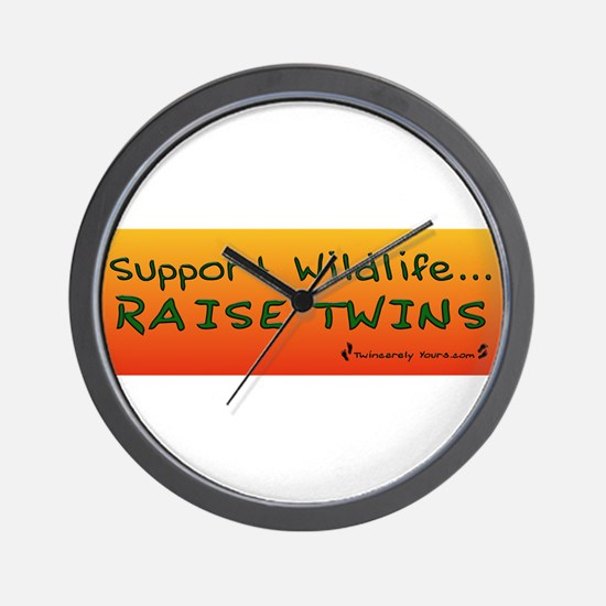 Support Wildlife - Raise Twin Wall Clock