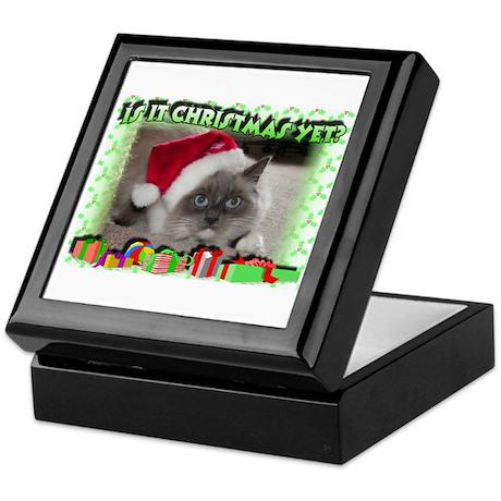 Xmas Kitty Keepsake Box