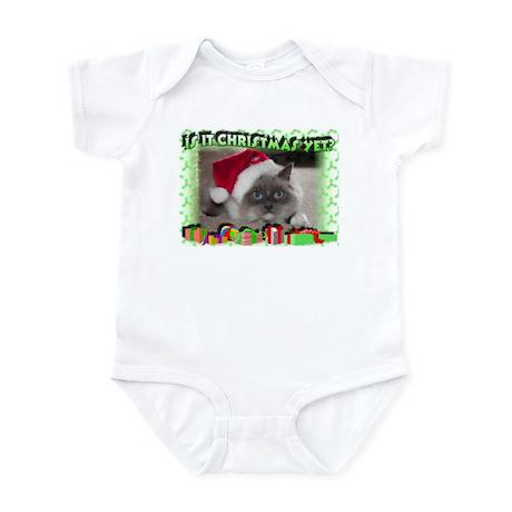 Xmas Kitty Infant Creeper