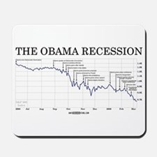 Obama Recession Mousepad
