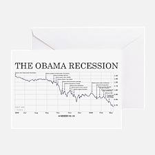 Obama Recession Greeting Card